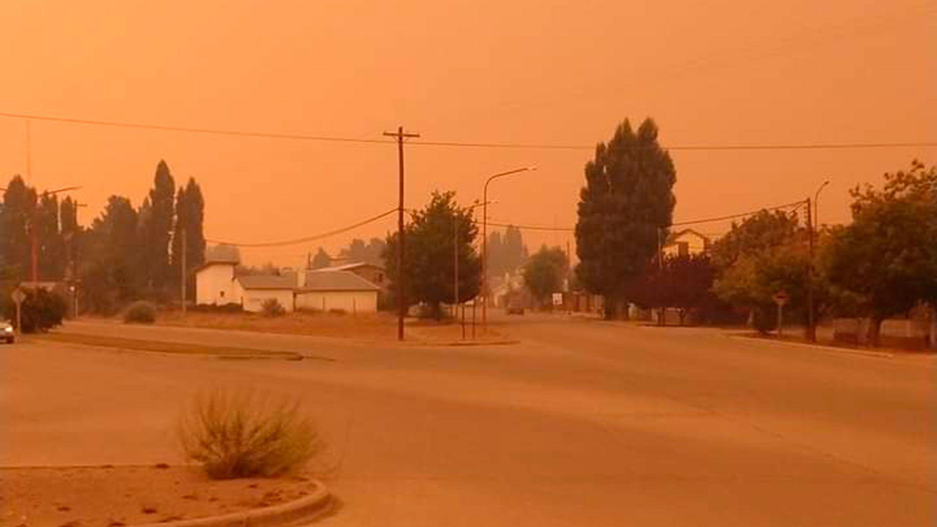 Incendio cerca de El Bolson 1