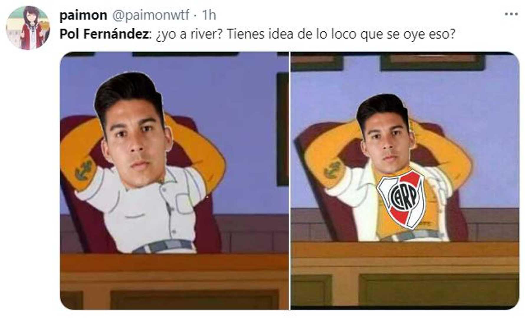 Los memes de Pol Fernández por su posible pase de Boca a River