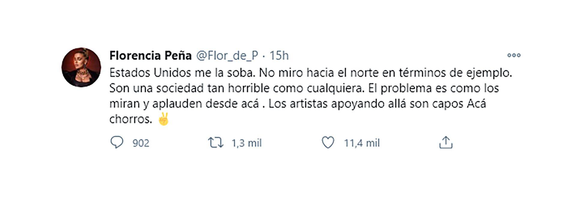 Flor Peña tuit