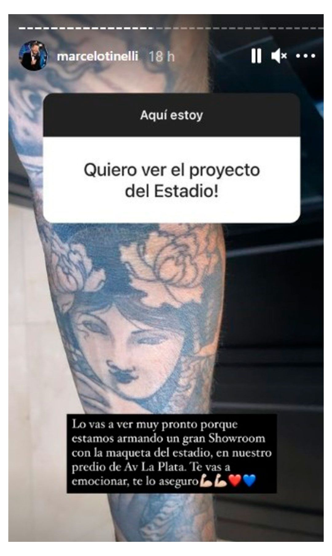 respuestas de Marcelo Tinelli en Instagram