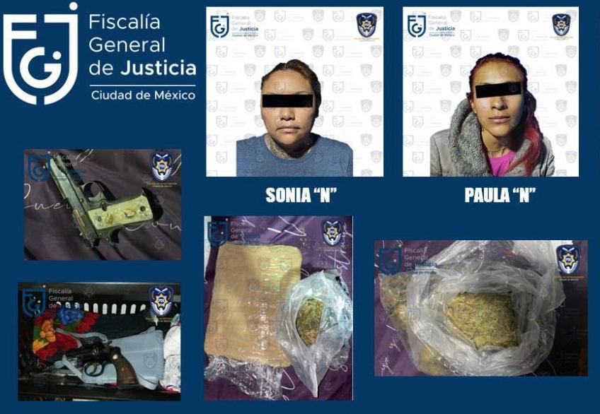 mexico cdmx detencion mujeres droga