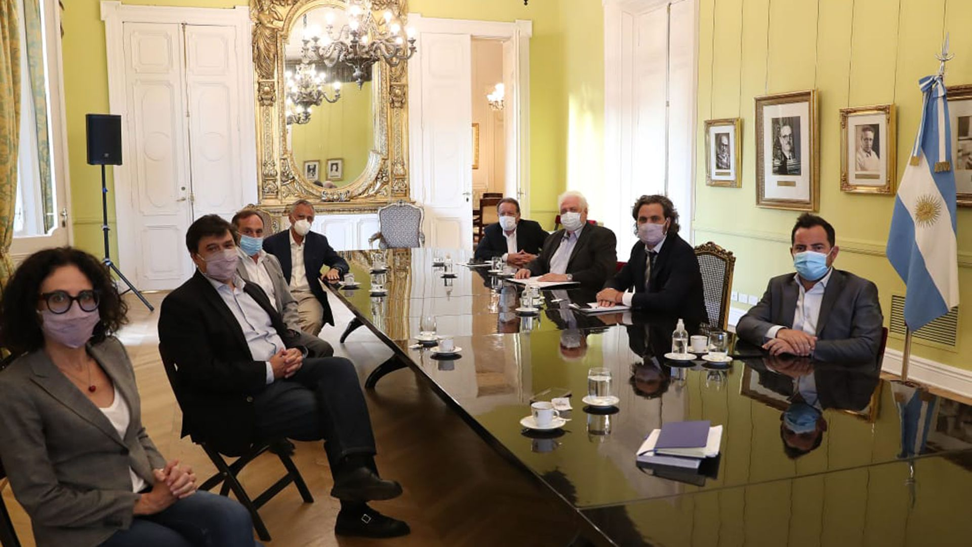 El jefe de Gabinete, Santiago Cafiero, recibió a los representantes de la Federación Argentina de Prestadores de Salud (FAPS)