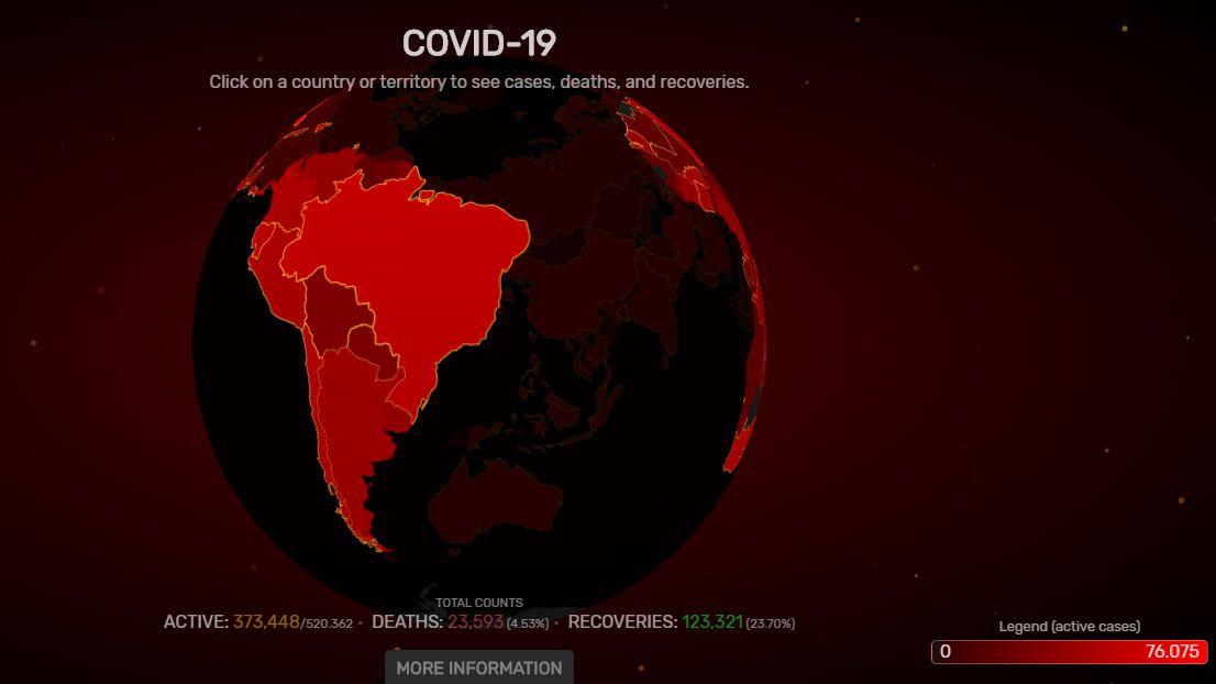 Mapa interactivo COVID-19