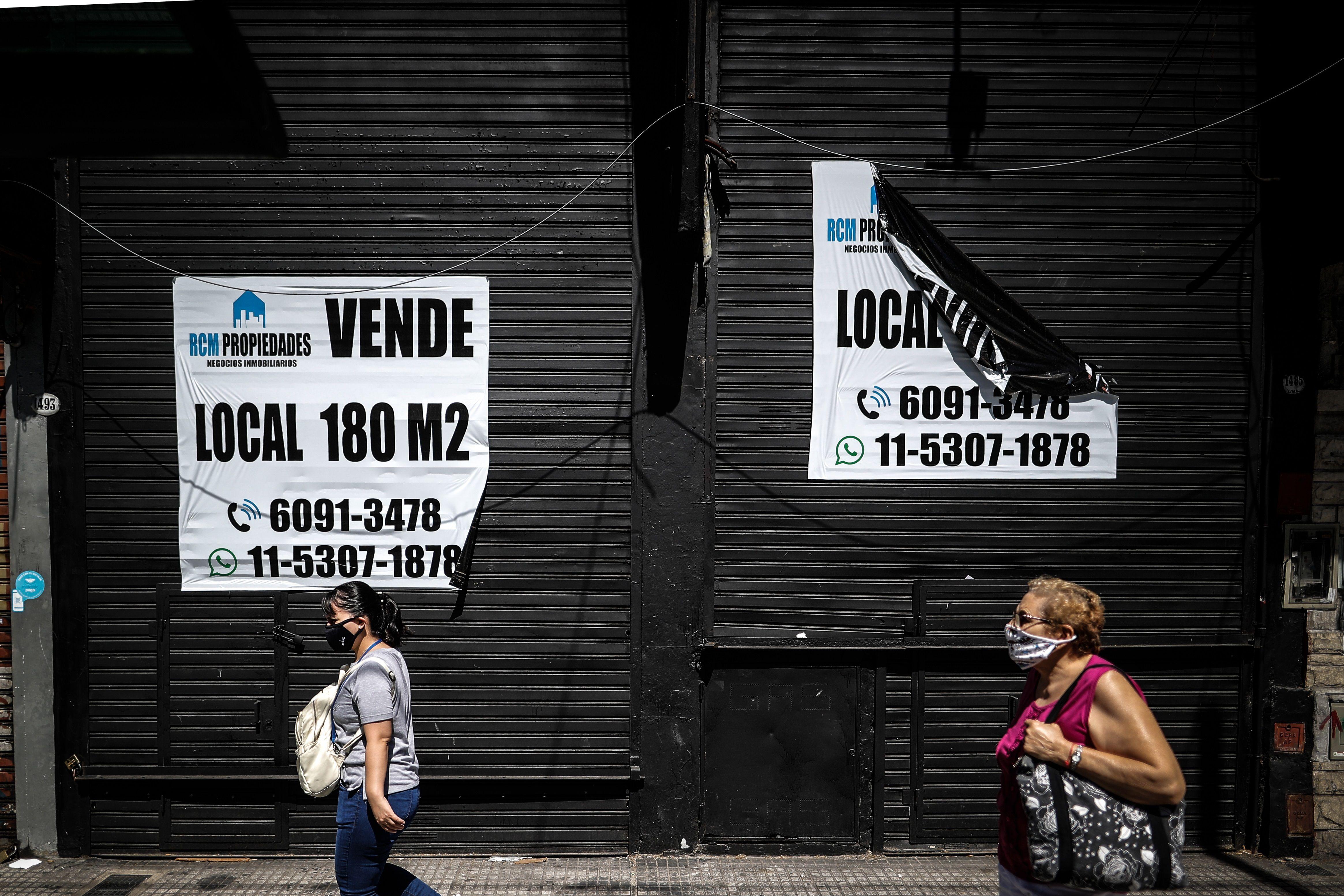 Cuatro de cada 10 locales aseguran que sus ventas cayeron más del 25% (Argentina). EFE/ Juan Ignacio Roncoroni/Archivo