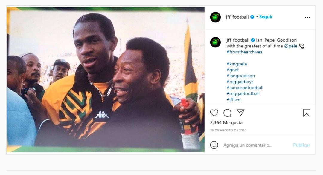 Ian Goodinson Pelé Jamaica