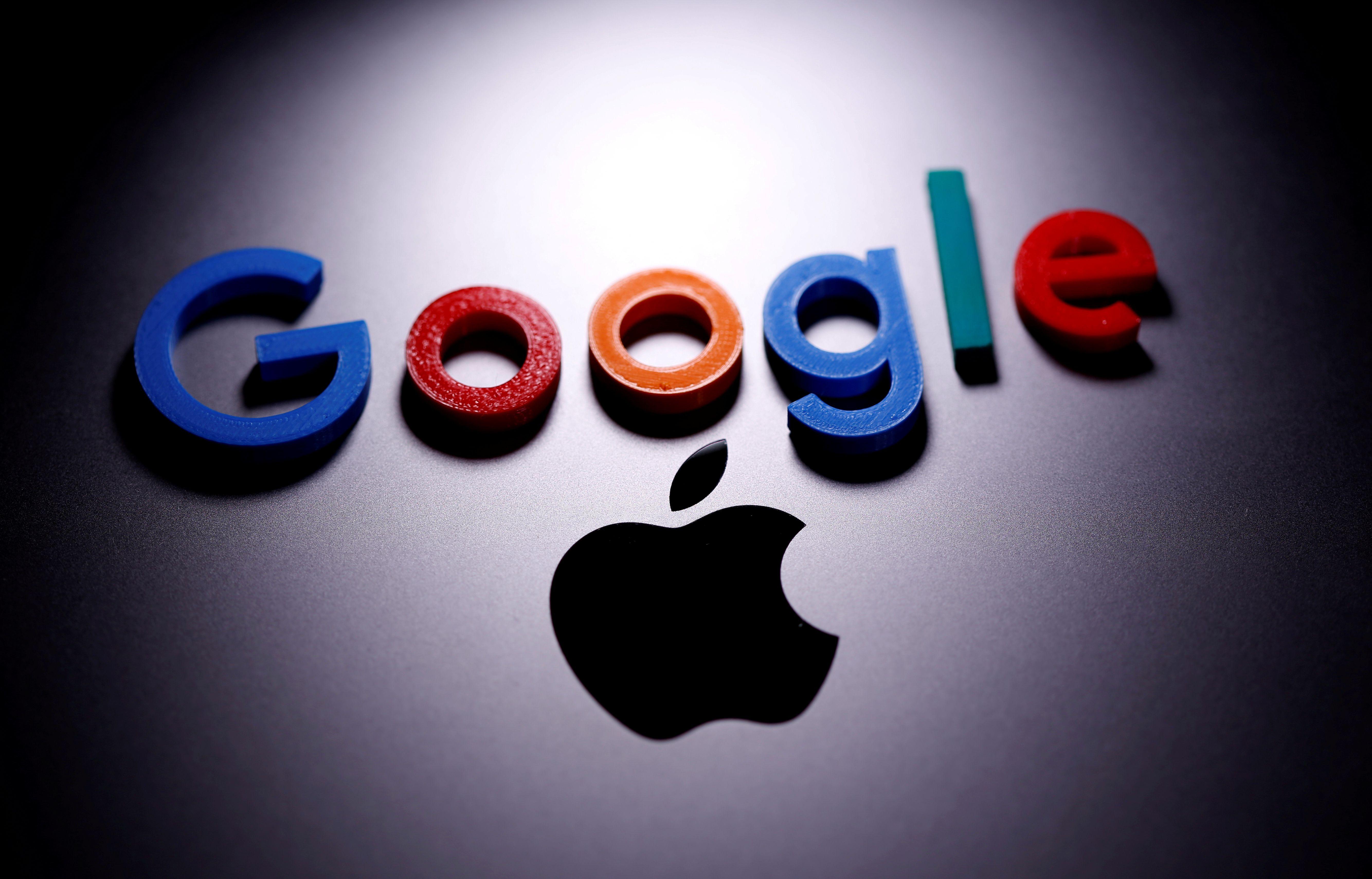 El logo de Google impreso en 3D en una MacBook de Apple (Foto: Reuters)