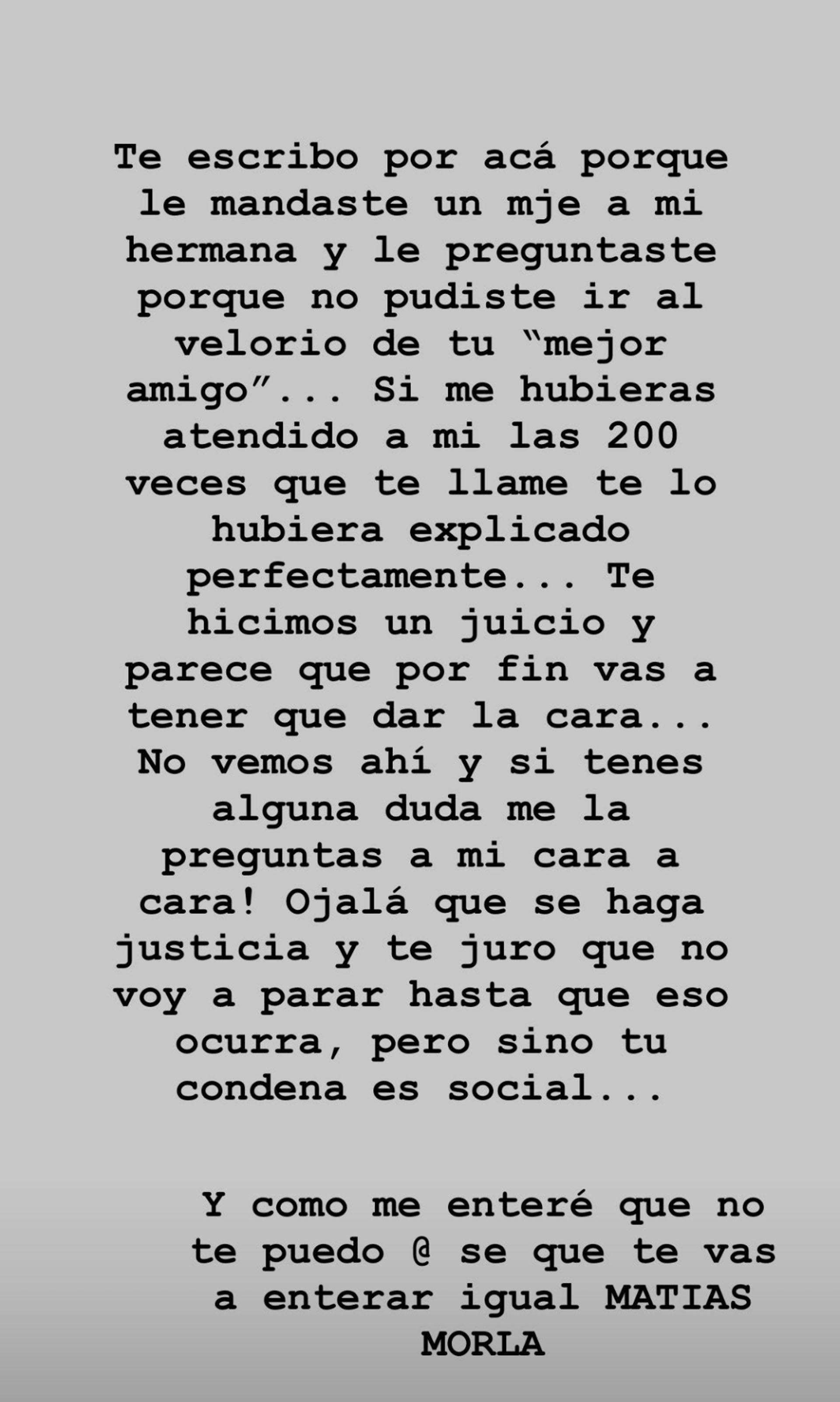 Dalma Maradona Matías Morla (Foto: Instagram)