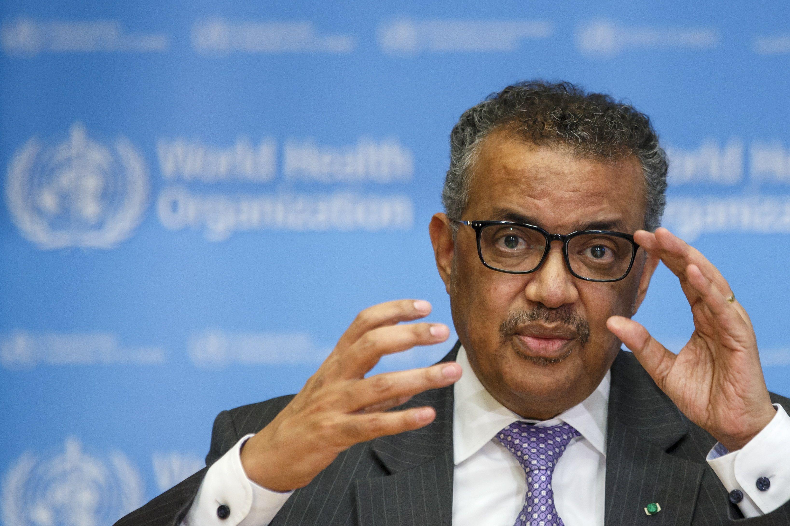 El director general de la Organización Mundial de la Salud (OMS), Tedros Adhanom Ghebreyesus. EFE/ Salvatore Di Nolfi/Archivo