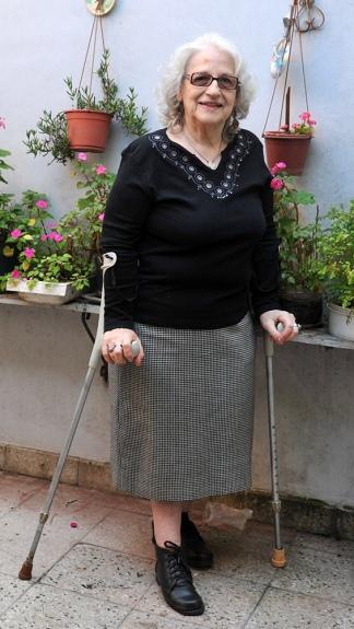 Alicia Pattacini, la última víctima de la polio en Argentina. (Télam)