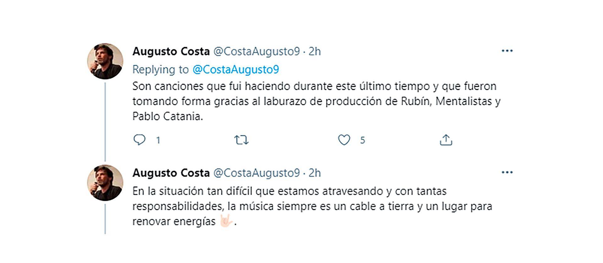 Tuits Augusto Costa