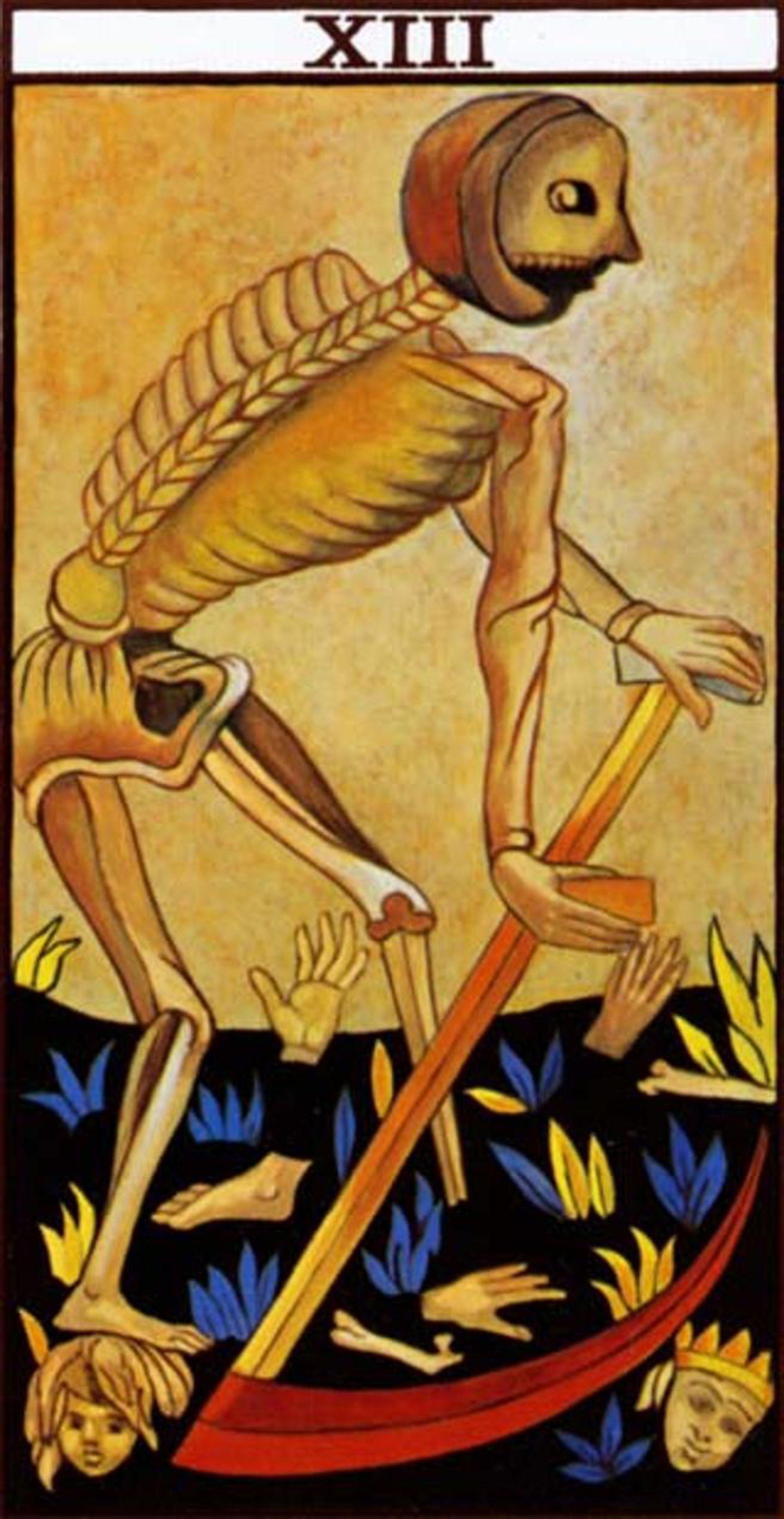 La carta del Tarot número 13, otro de los símbolos de este día
