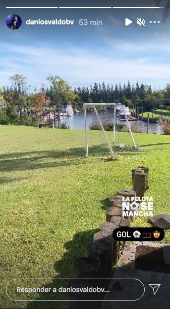 Daniel Osvaldo posteo desde la casa de Gianinna Maradona