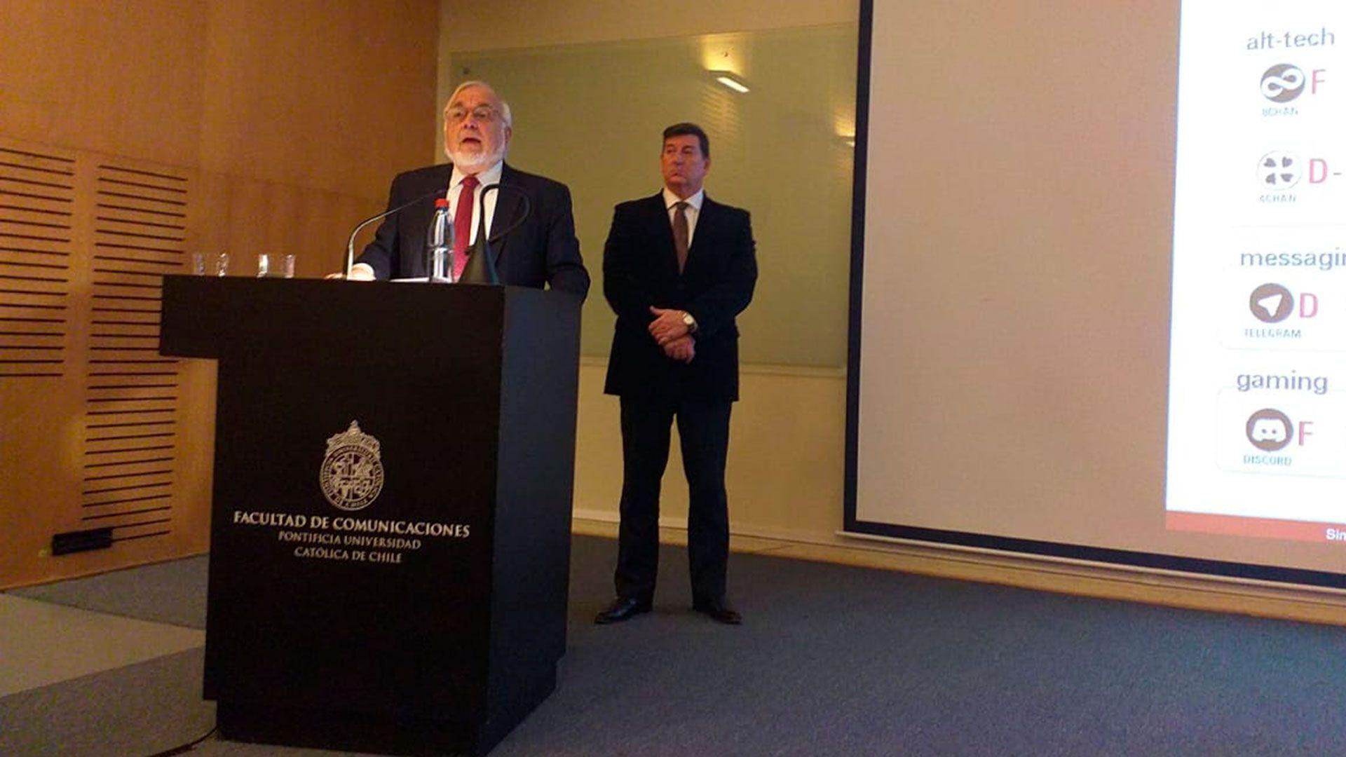 El rabino Abraham Cooper y Dr. Ariel Gelblung durante una actividad en Chile