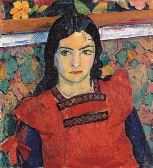 Niña con flores de Cuno Amiet (1913)