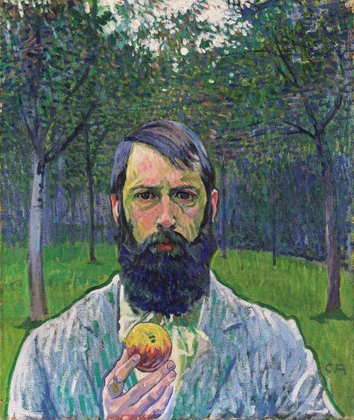 Autorretrato con manzana, de Cuno Amiet (1903)