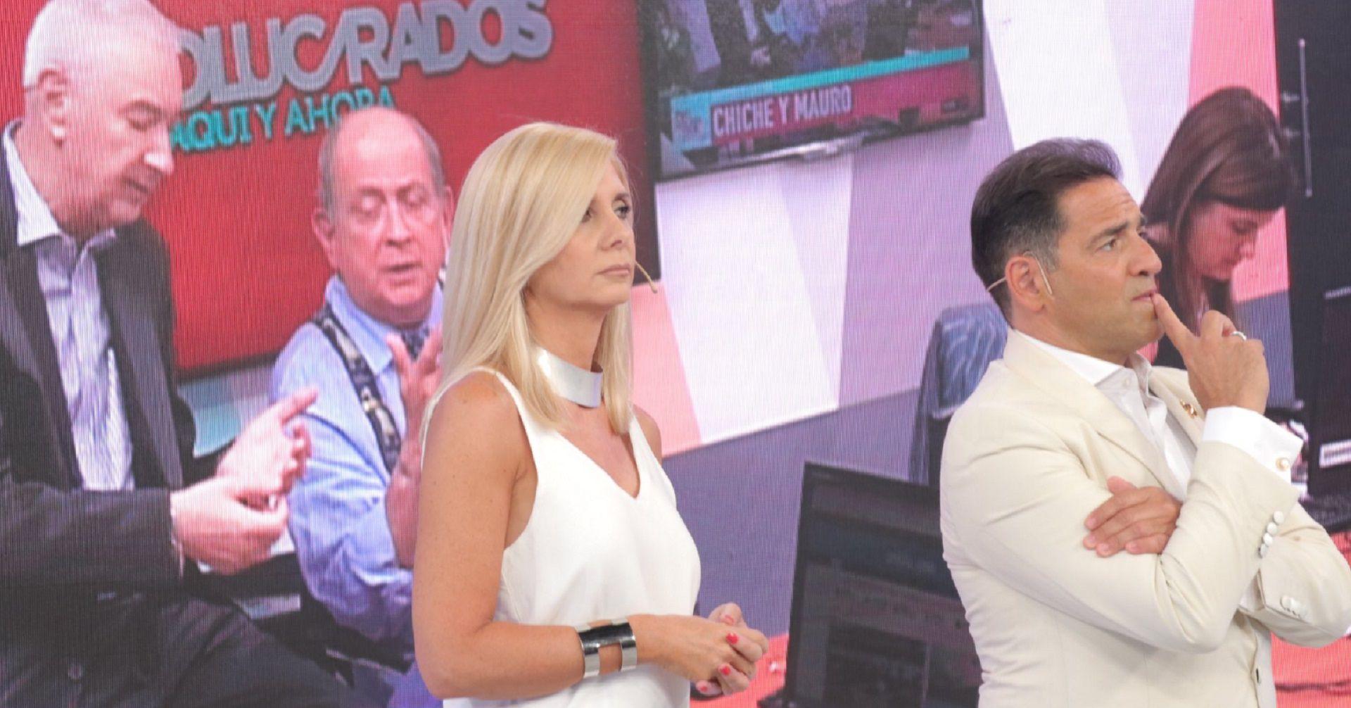 Mauro Viale junto a Mariano Iúdica, Debora Plager y Chiche Gelblung en Involucrados, en América