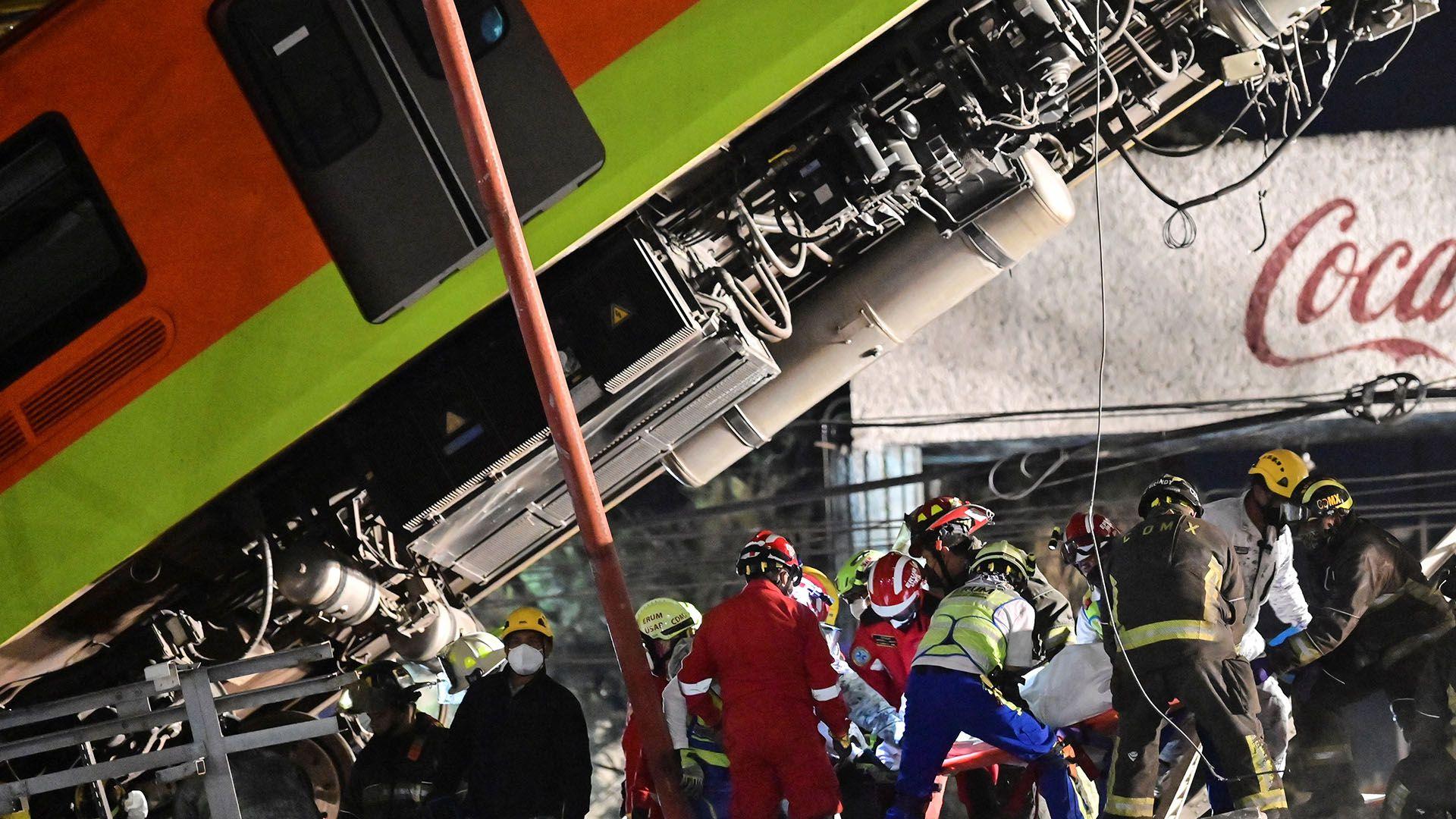 galeria accidente mexico tren metro puente