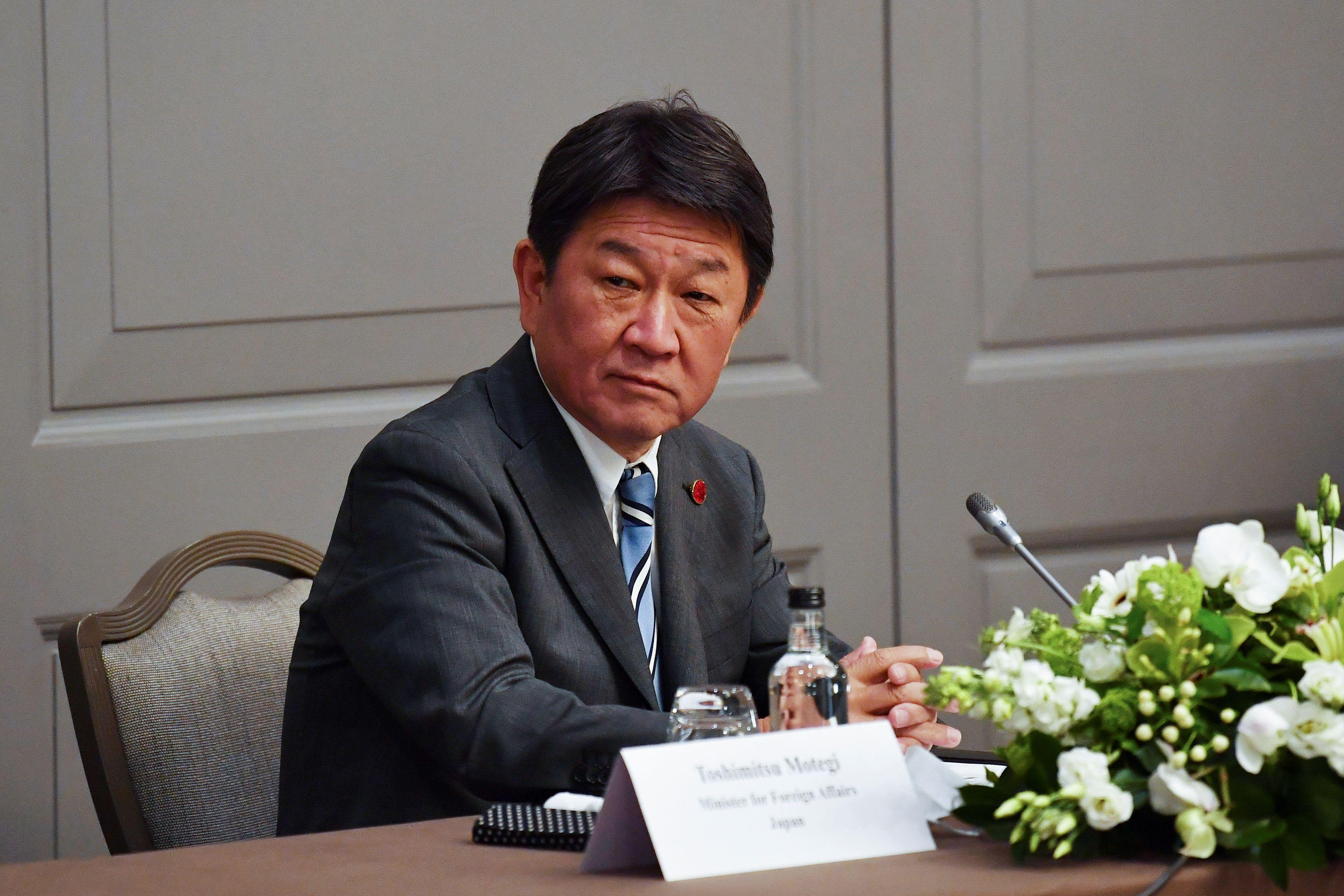 El ministro de Exteriores de Japón, Motegi Toshimitsu