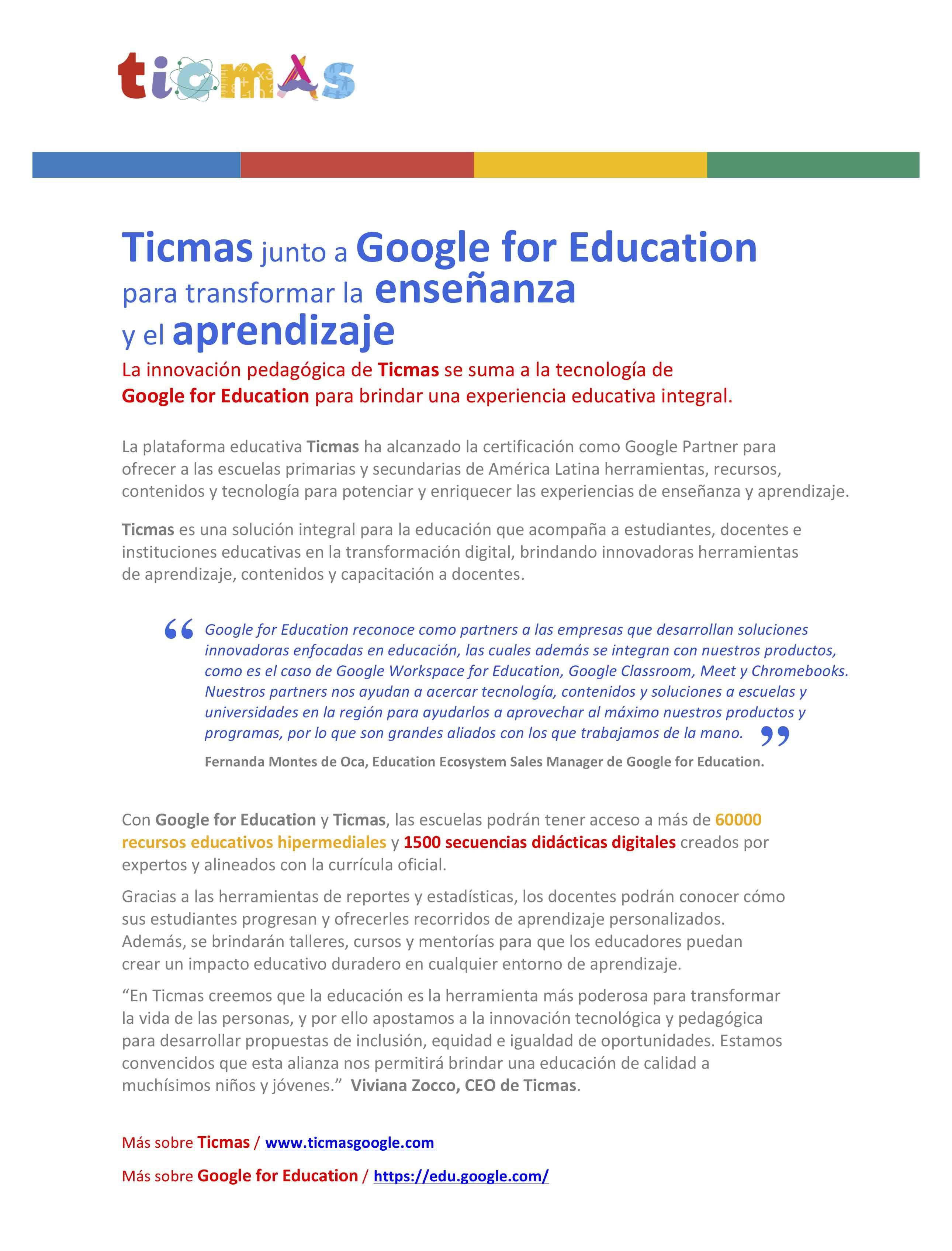 Ticmas - Goolge - Educación