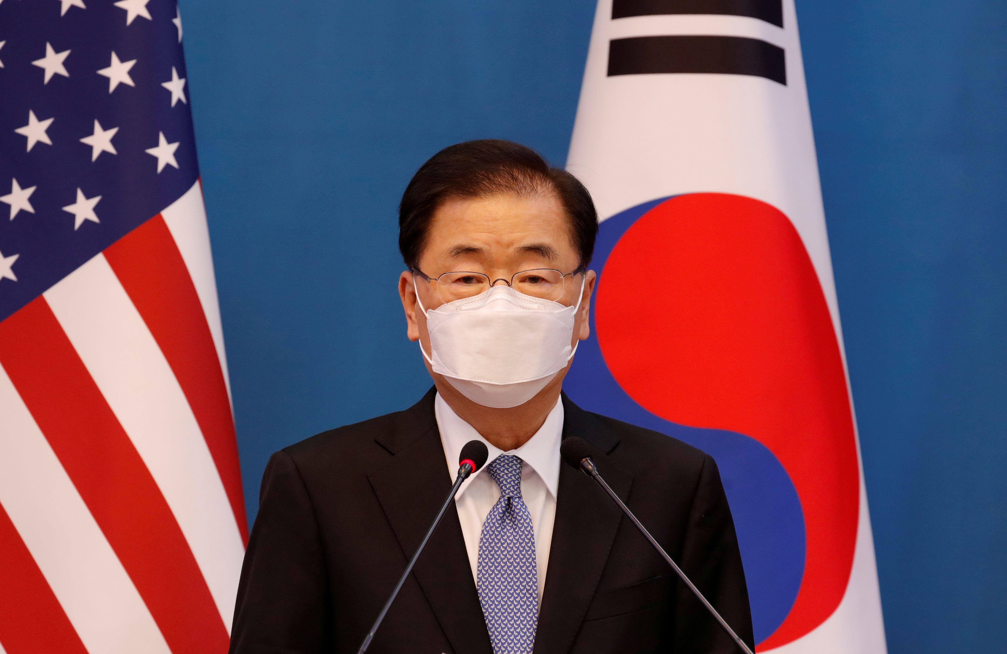 El canciller de Corea del Sur, Chung Eui Yong