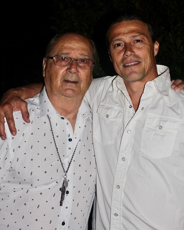 Matías Almeyda y su padre