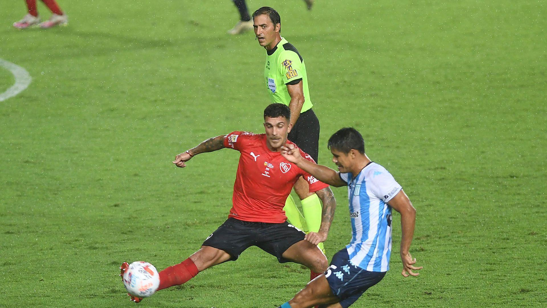 Mauro Vigliano en Racing vs Independiente