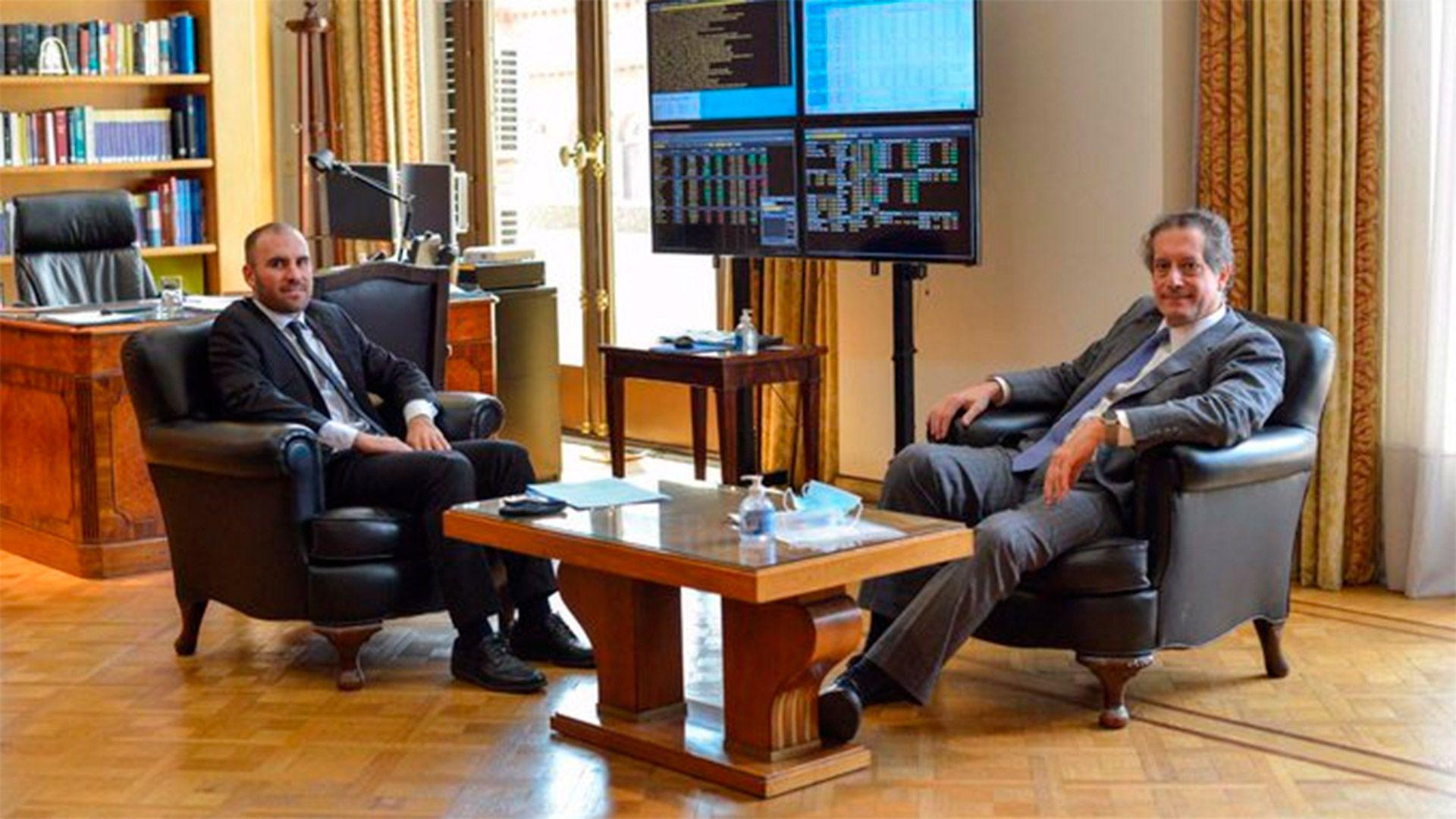 Martin Guzman y Miguel Pesce