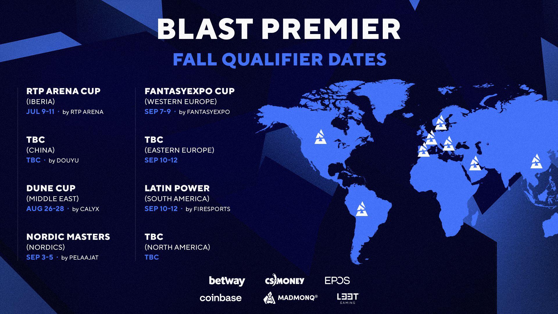 Las fechas de los clasificatorios a la BLAST Premier.