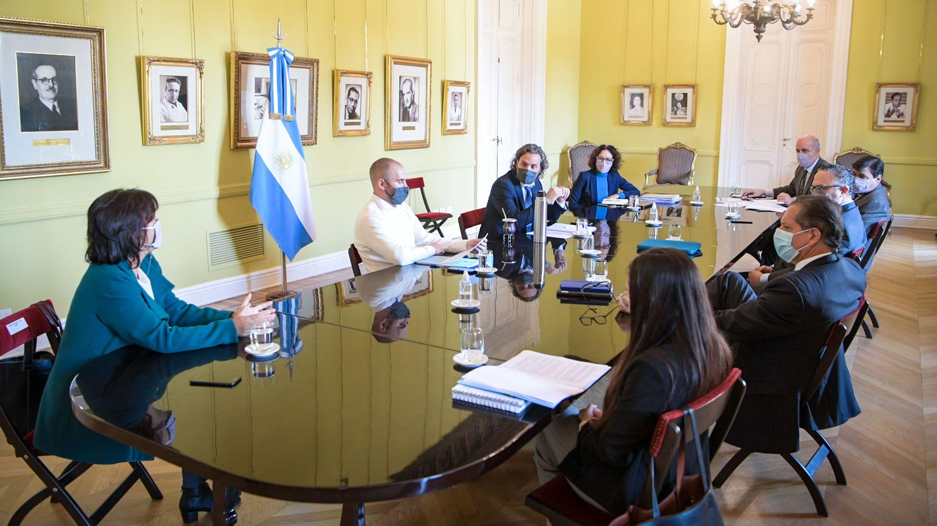 gabinete económico 19-05 Guzmán Cafiero Kulfas