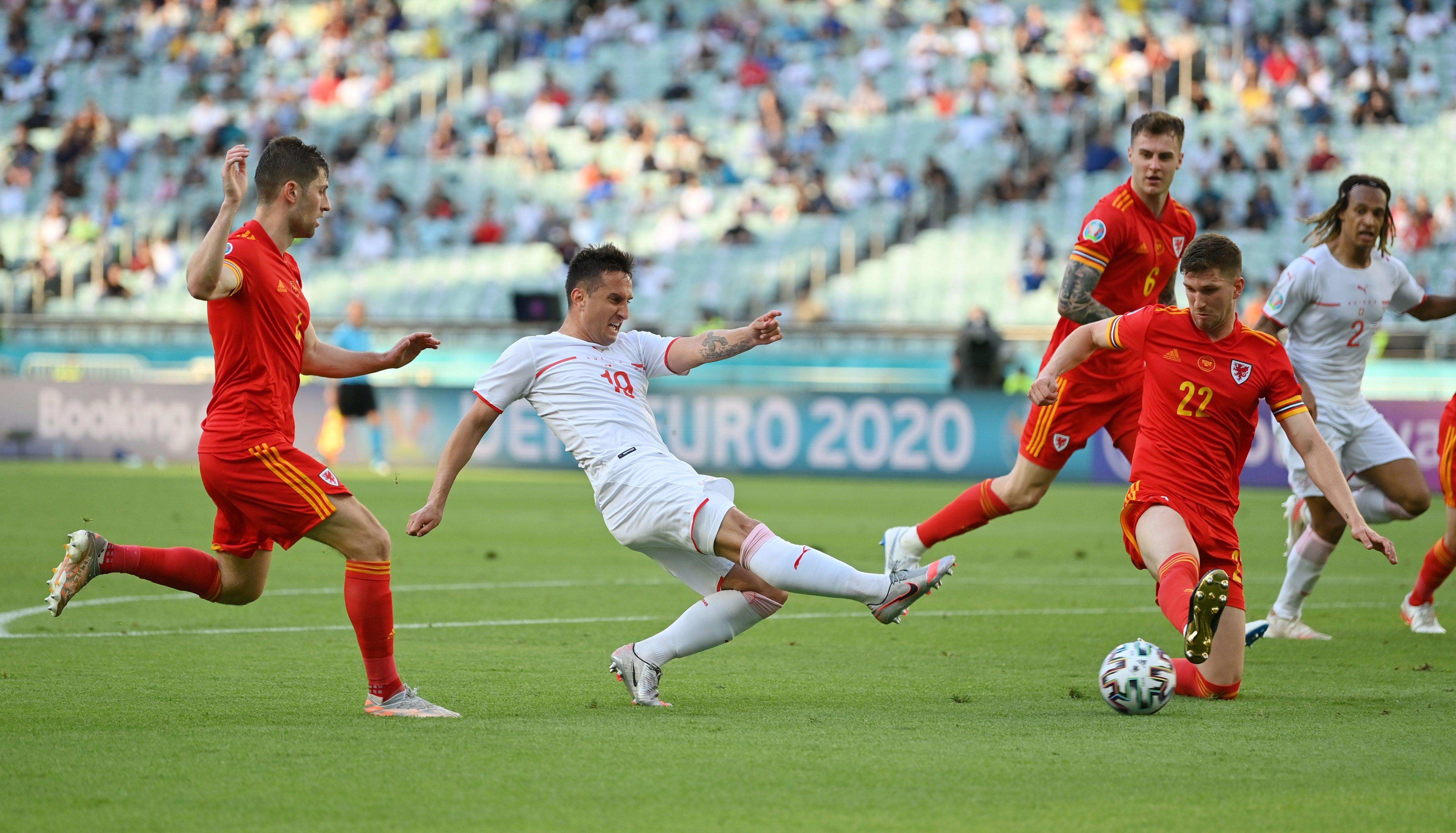 Gales y Suiza igualaron en el estadio Olímpico de Bakú (Foto: REUTERS)