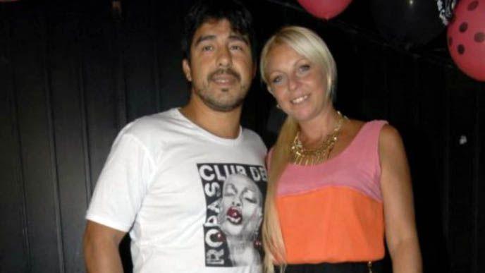 Vanesa Carnevale junto a Walter Christian Machuca, más conocido como Chino Maradona, uno de los sobrinos de Diego Armando Maradona
