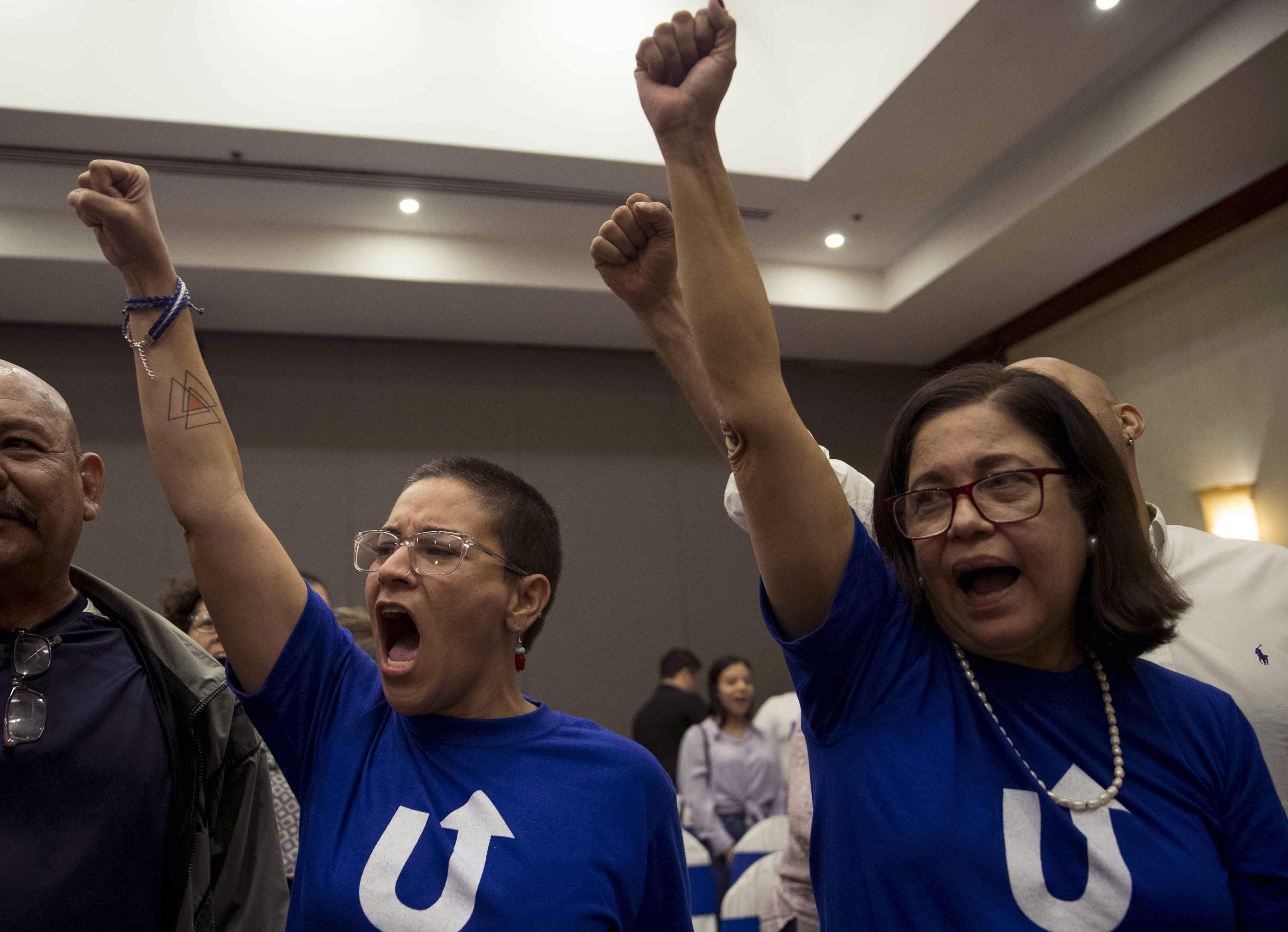Davila, con Violeta Granera, la opositora que también está detenida pro el régimen de Nicaragua (EFE)