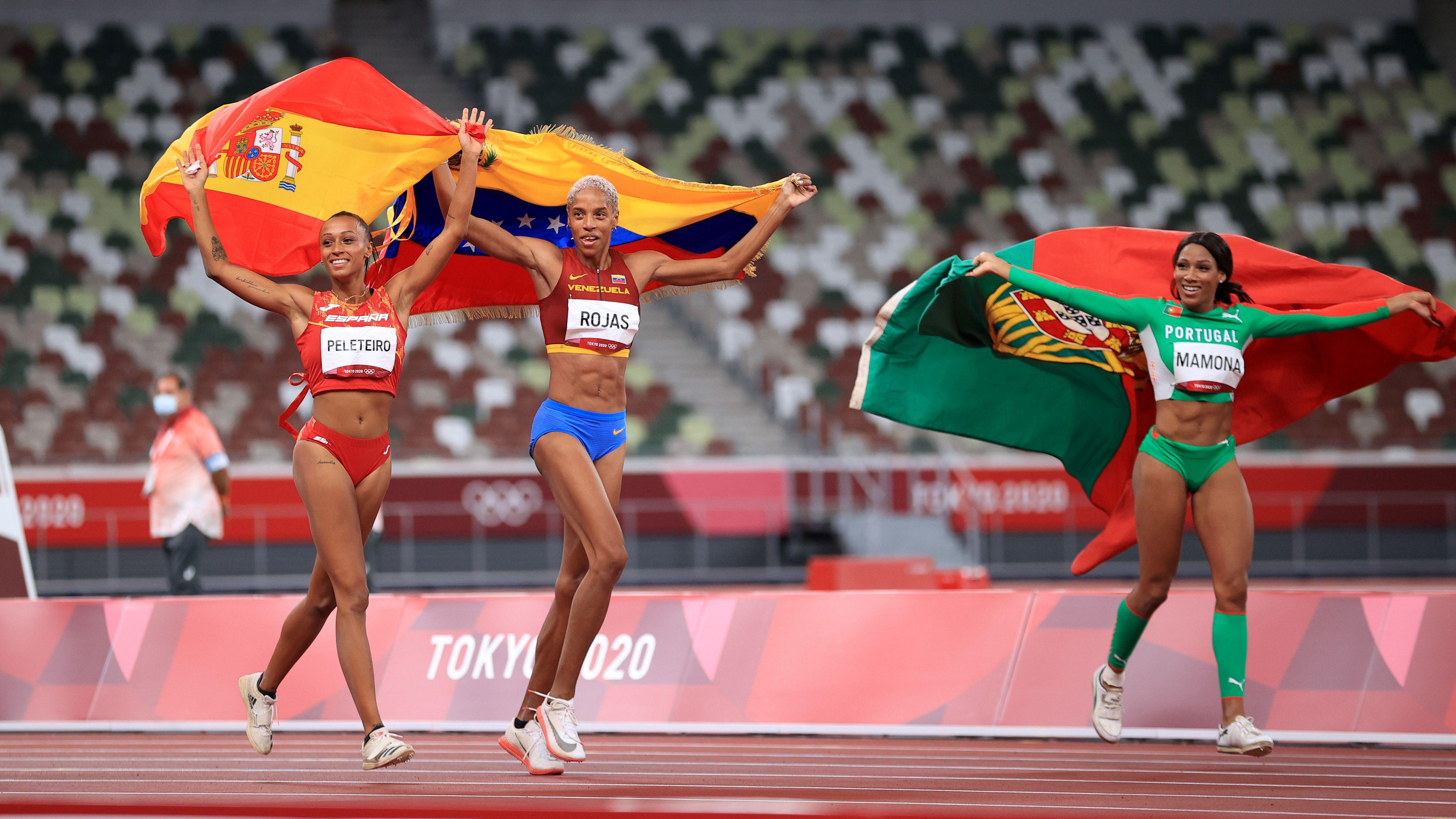 Junto a Yulimar, Patricia Mamona y Ana Pleteiro completaron el podio (Reuters)