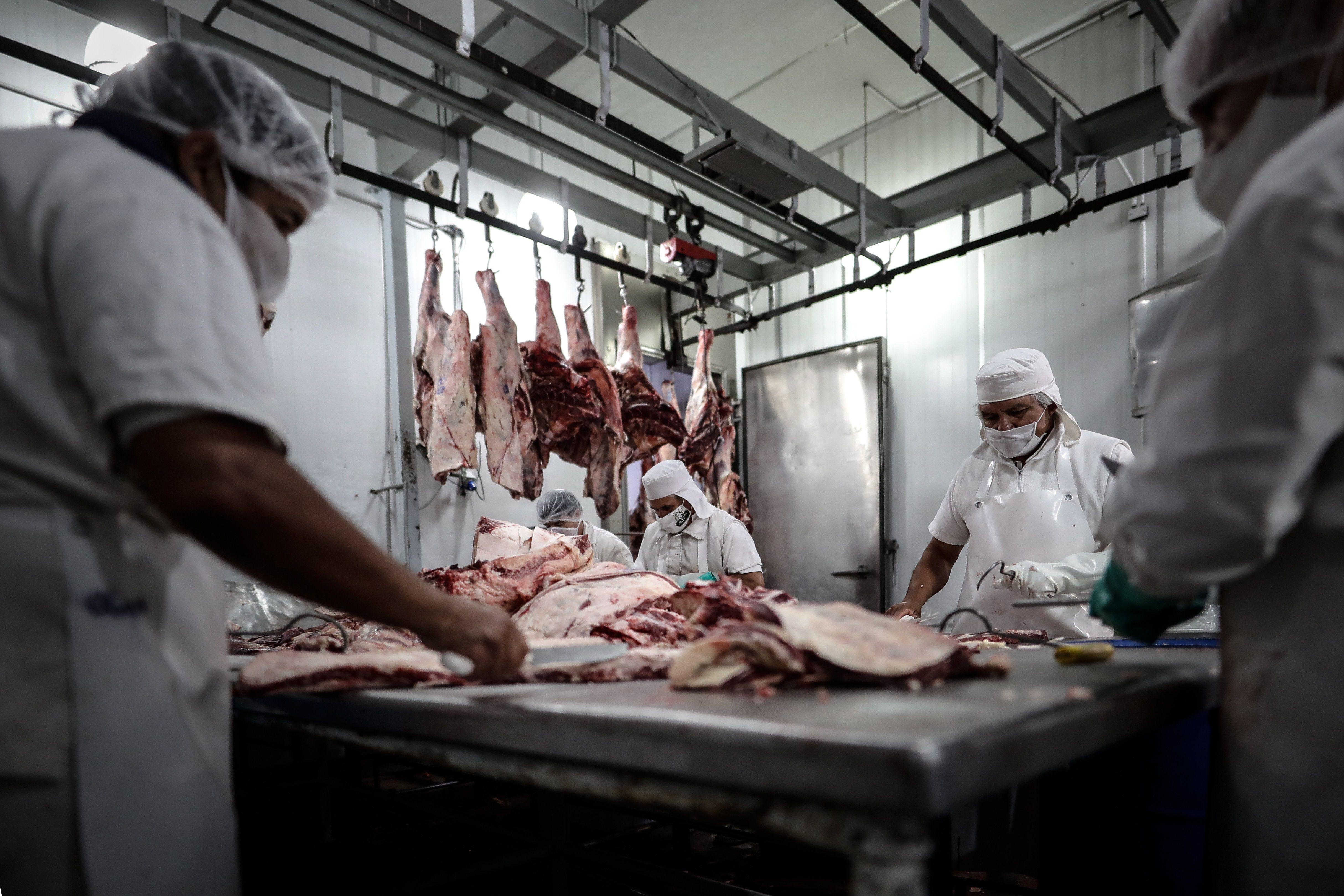 Desde la producción siguen reclamando la eliminación de las restricciones para exportar carne vacuna. (EFE/ Juan Ignacio Roncoroni/Archivo)