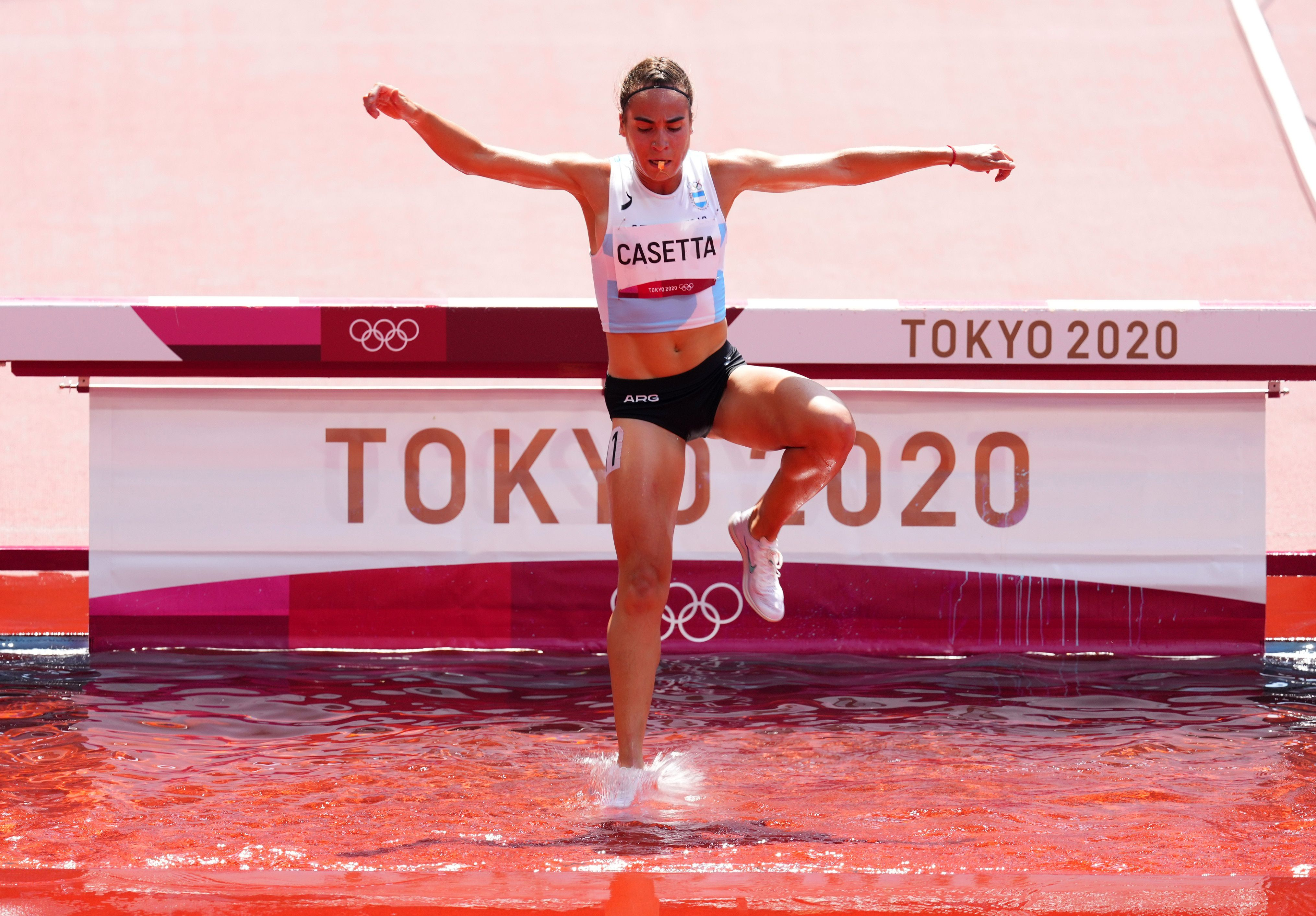 Belén Casetta participó en los 3.000 metros con obstáculos (REUTERS/Aleksandra Szmigiel)