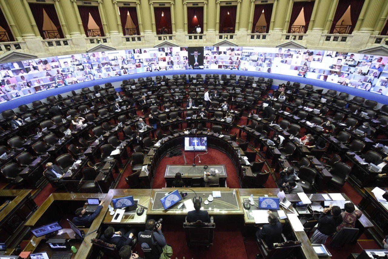 Se podría habilitar la virtualidad sólo en caso de legisladores con riesgos