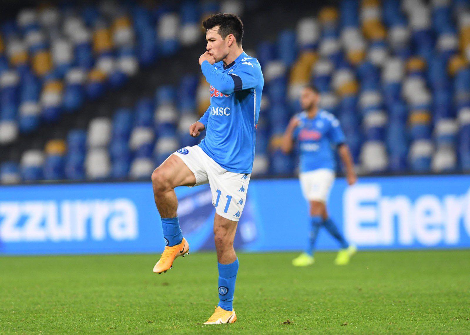Hirving Lozano marcó el segundo gol ante Empoli (Foto: Twitter@sscnapoli)