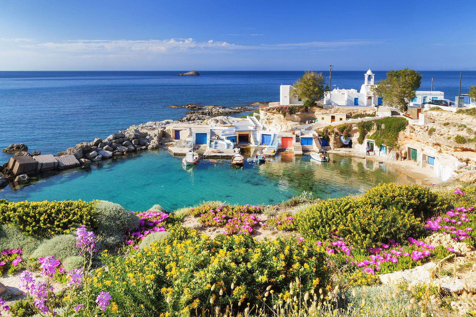 Mandrakia, Milos island, Greece.