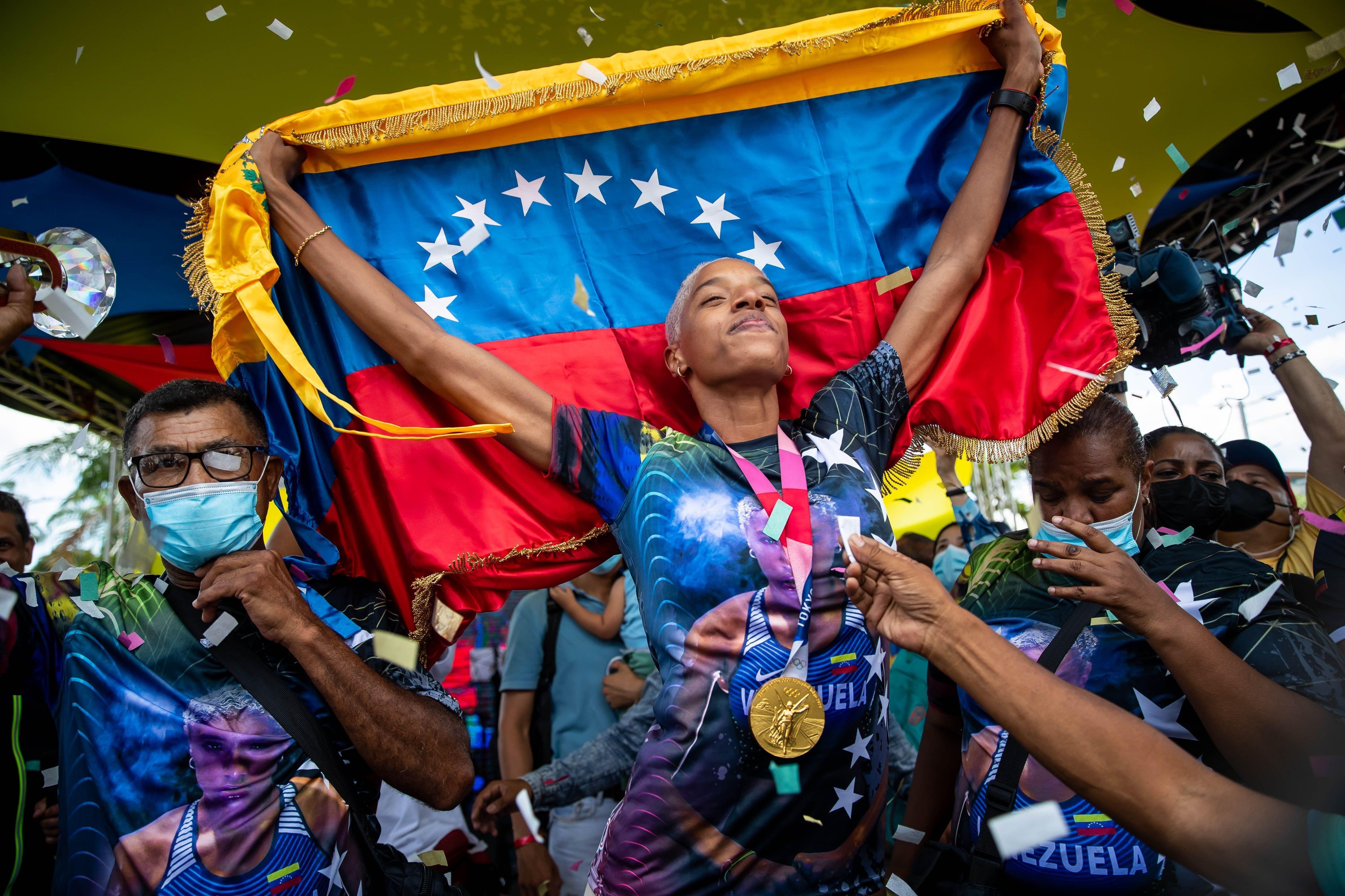 La atleta venezolana Yulimar Rojas. EFE/ Miguel Gutiérrez