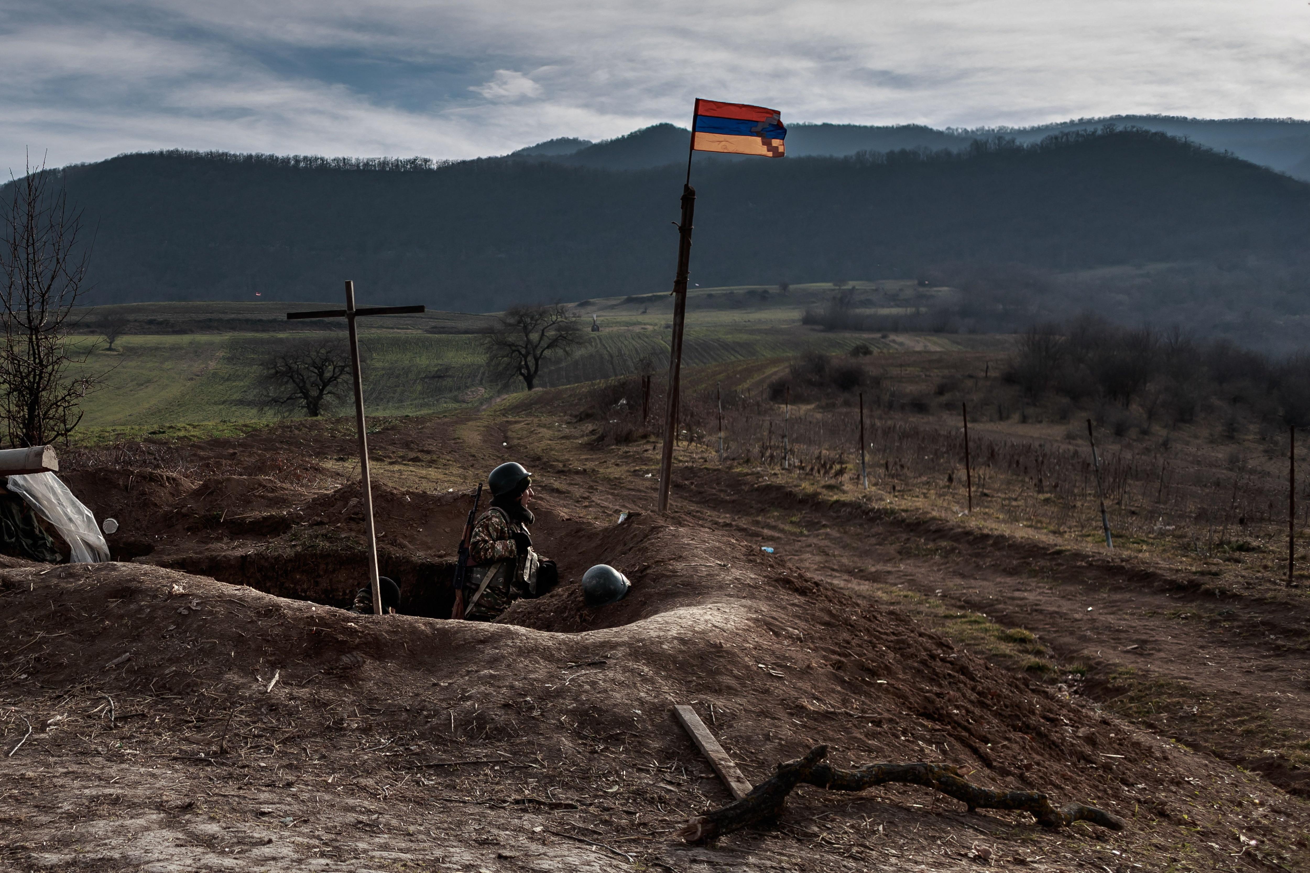 Estos dos países del Cáucaso libraron una breve guerra, en la que murieron 6.000 personas, a finales de 2020 (Foto: EFE)