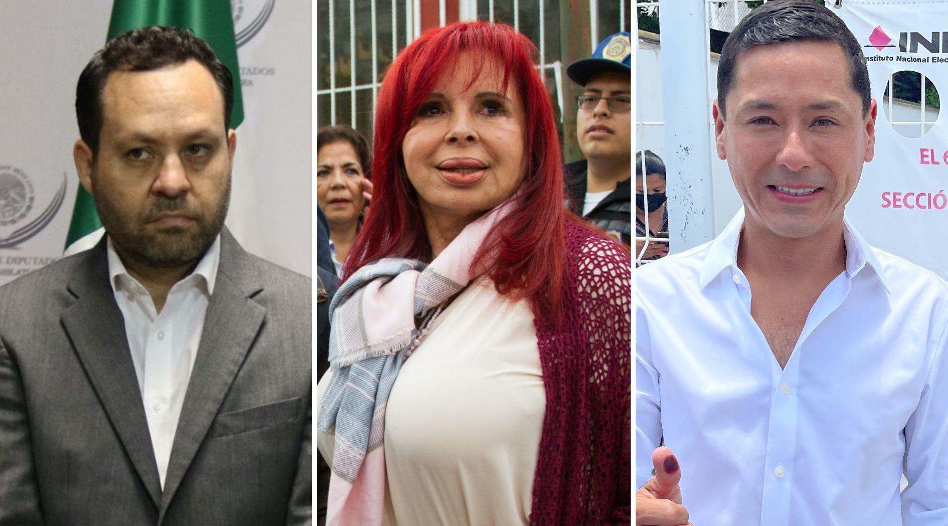 Clemente Castañeda Hoeflich, Layda Sansores San Román y Eliseo Fernández  (Foto: Cuartoscuro/Facebook@EFMCampeche)