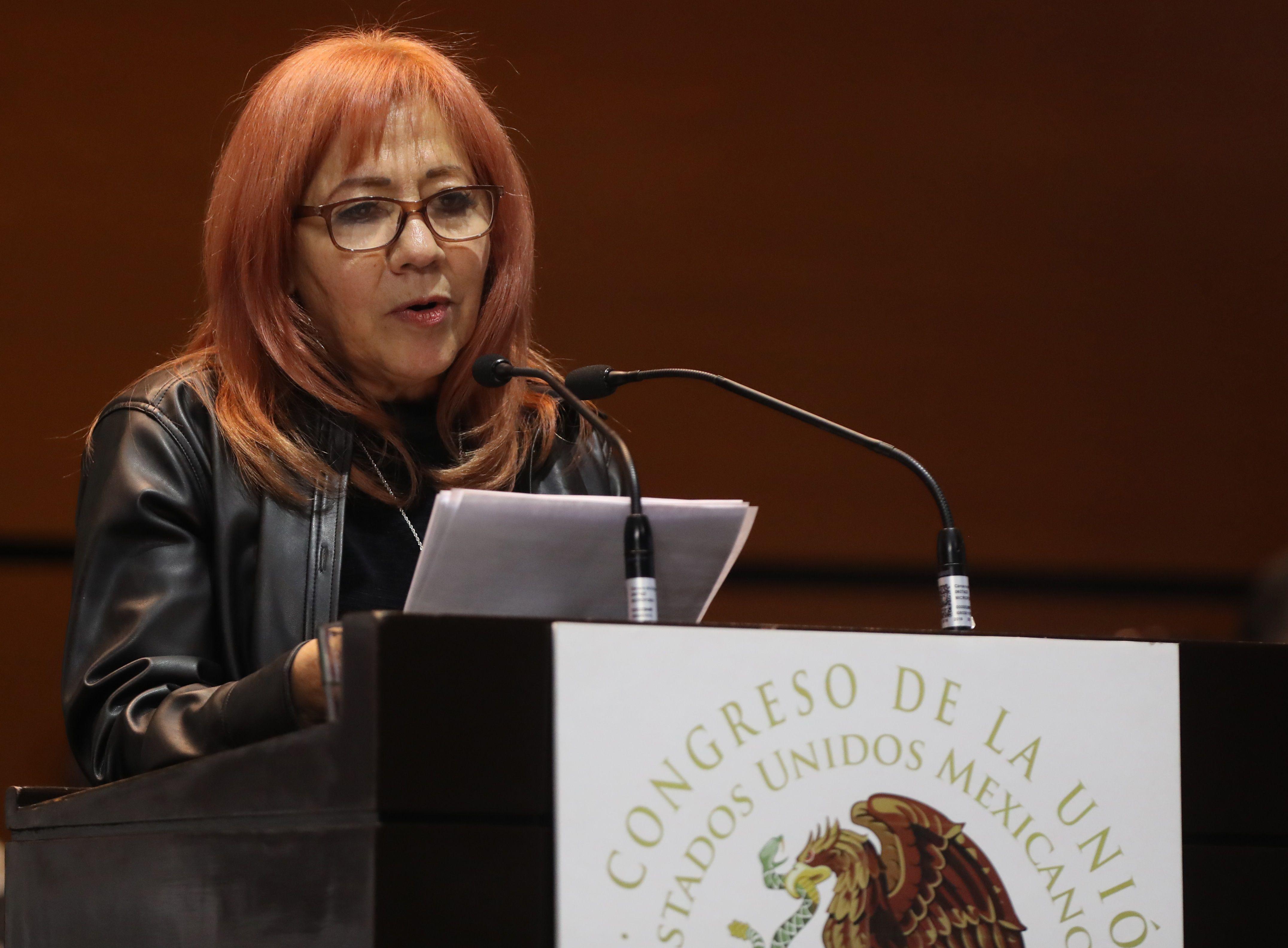Fotografía de archivo en la que se registró a la presidenta de la Comisión Nacional de Derechos Humanos (CNDH) de México, Rosario Piedra Ibarra, en Ciudad de México (México). EFE/Mario Guzmán