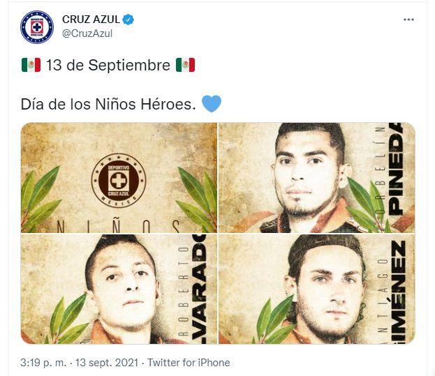 """Cruz Azul """"niños héroes"""""""