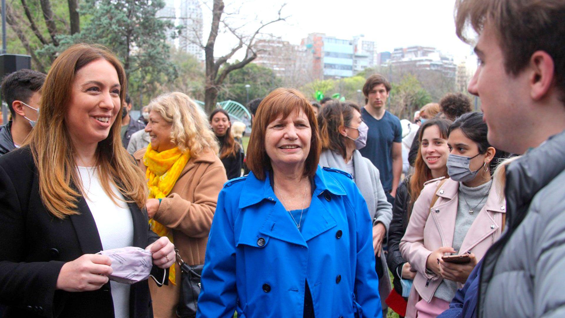 María Eugenia Vidal hizo campaña con Patricia Bullrich