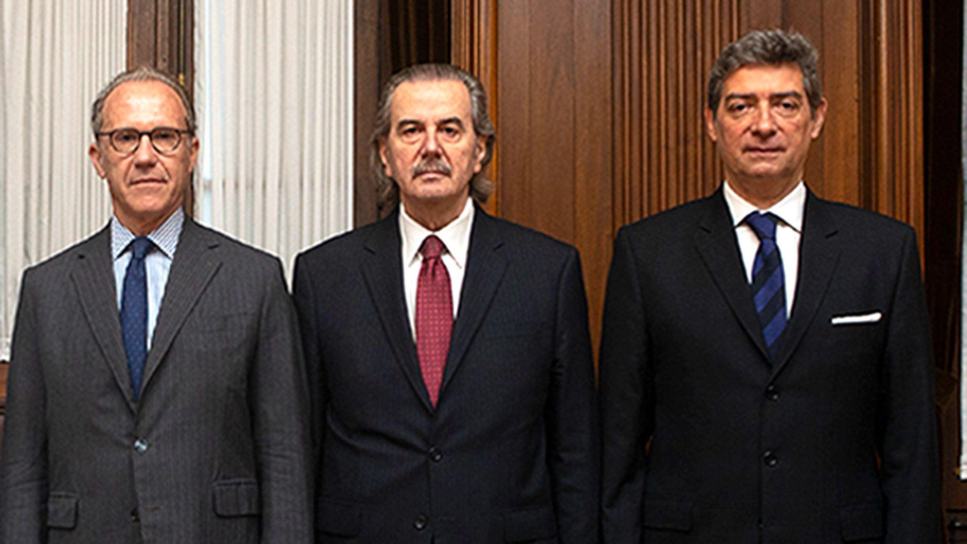 Carlos Rosenkrantz, Juan Carlos Maqueda y Horacio Rosatti