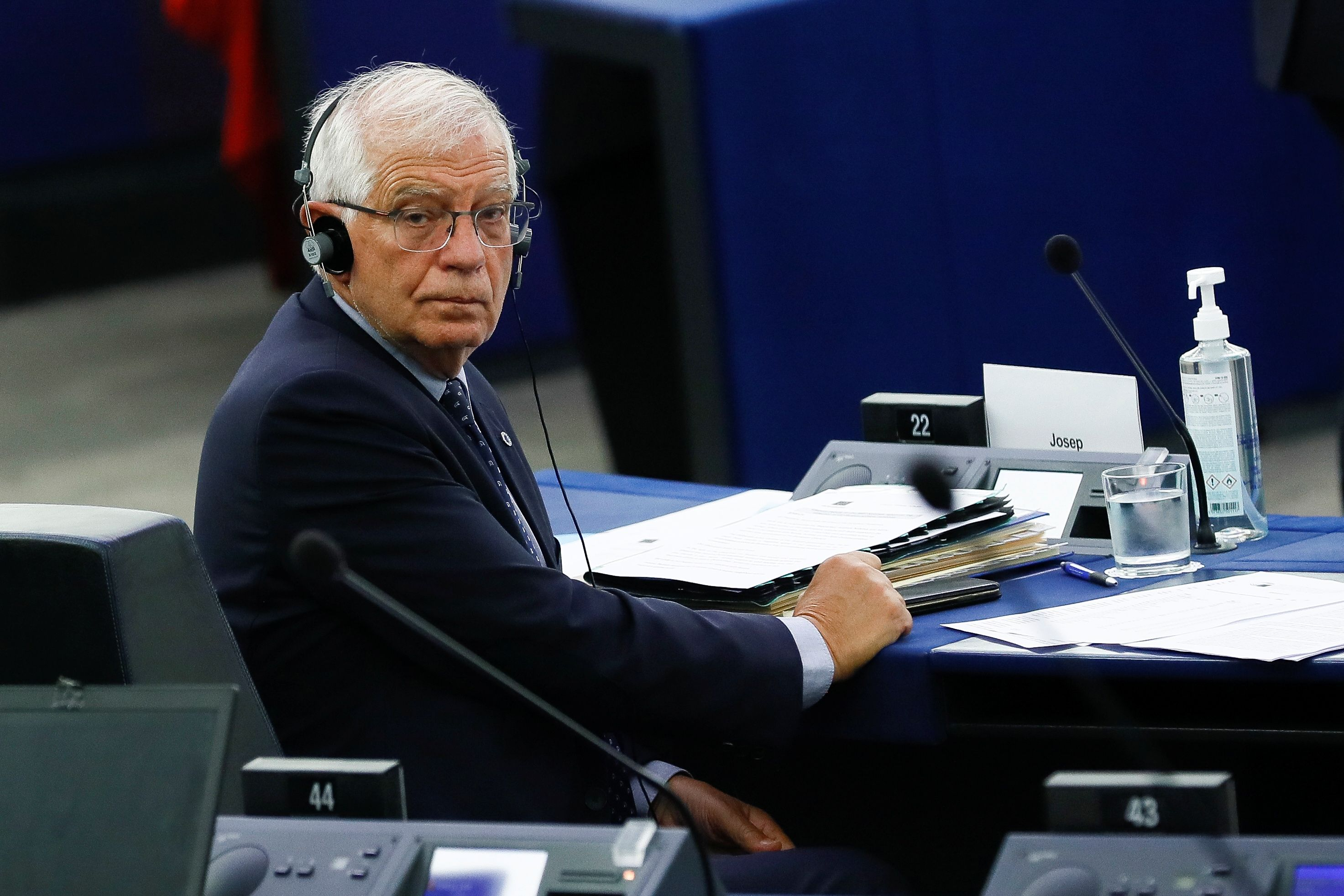 El jefe de la diplomacia europea, Josep Borrel (Julien Warnand/Pool via REUTERS)